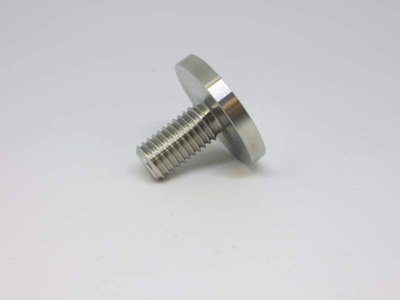 Peça INOX com rosca exterior M10 e topo rectificado. Usado na Indústria do Mobiliário e Decoração
